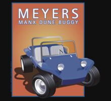 Dune Buggy Blue Manx Orange Box by Frank Schuster