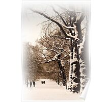 Trees in Sepia - Greenwich Park Poster