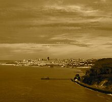 San Francisco seen from the Golden Gate Bridge by dijle