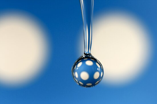 Big Fat Dotty Droplet on Blue by Wendy Kennedy