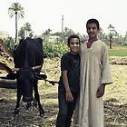Fellahin Boys, Luxor, Egypt by Anne Kingston