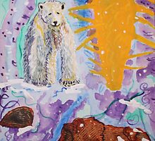 POLAR BEAR 'Will I survive'Acrylic on canvas 8x10 by eoconnor