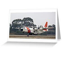 Coast Guard Foggy Takeoff Greeting Card