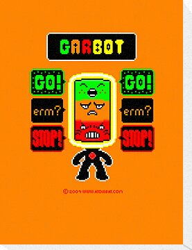 GARBOT Amber Background by atombat