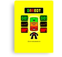 GARBOT Yellow Background Canvas Print