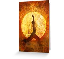 Sun Salute Greeting Card