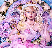 The angel of the rose sapphire.   by anzel