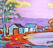 Fauve Landscape. by Richard  Tuvey