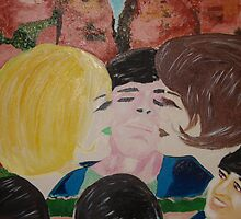 Double Kiss - Blonde and Brunette Fans - Ringo Starr by Sunil