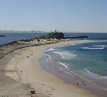 Nobbys Beach by tinkerevents