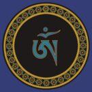 Tibetan Om Symbol in Jewel Ring Mandala by bodhicittatees