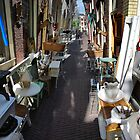 narrow street in Leiden by mark holman
