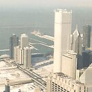 Snow white scape, Lake Michigan from Sears Tower - Chicago by Penny V-P