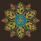 Tibetan Om Symbol in Flame Mandala by bodhicittatees