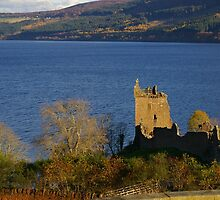 Urquhart Castle at Dusk by Susan Dailey