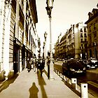 Silhouetted Magic - A Parisien Rue by Lucas Lovell