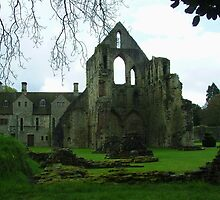 Much Wenlock Abbey Colour 9 by Lawson Clout