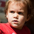 Little girl's portrait with wondering look by sanyi