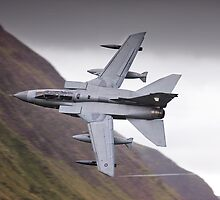 R.A.F Tornado GR4 heading towards Corris by Rory Trappe