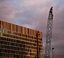 Crane and Building by Nautipuss