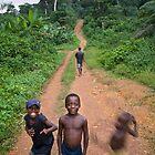 Village road in Sinoe by Christopher Herwig