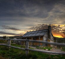 Craig's Hut at Sunset by Heather Prince ( Hartkamp )