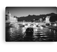 Pont Napoleon, La Conciergerie, Paris  Canvas Print