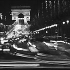 Arc de Triomphe & Champs Elysee at night, Paris by aldogallery
