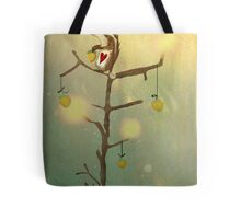 Gold squirrel glide tree alone sunset Tote Bag