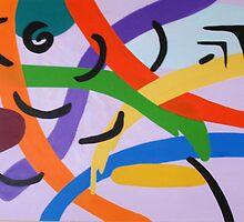 Ribbons abstract by beachshack