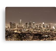 Los Angeles Matrix Canvas Print