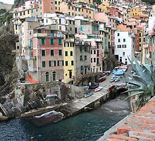 The village of Riomaggiore by annalisa bianchetti
