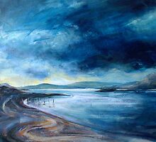 Morar bay - in progress by Fee Dickson