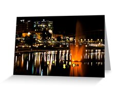 Nighttime on the Torrens Greeting Card