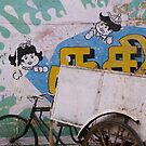 Pondicherry cycle rickshaw by Syd Winer