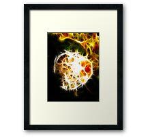 Internal flame Framed Print