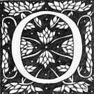 "Art Nouveau ""O"" (William Morris Inspired) by Donna Huntriss"