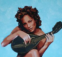 Jen with Mandolin by Samitha Hess