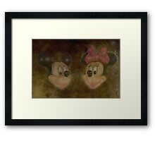 Mickey & Minnie Framed Print