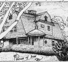 """Snee House"" - Narrgansett, RI - Pen & Ink Portfolio by Jack McCabe"