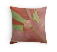 Red Leaf Trio Throw Pillow