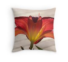 Red Hippeasterum-Glow Throw Pillow