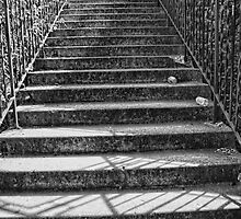 B&W stairs in Spokane by Kody Little