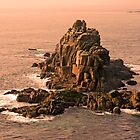 Winter rocks off Land's End, Cornwall by Peter Vines