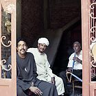 Shisha men - Luxor, Egypt by Anne Kingston