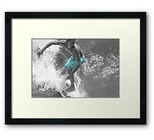 Surfer from Above Framed Print