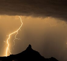 Lightning Strikes - Pinnacle Peak by Bo Insogna