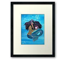 My Mermaid............maheli~heli Framed Print