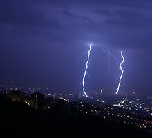 Lightning during a wild storm by Anthony Saoud