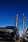 SUV on Nelson Mandela Bridge - In Cartoon Rendition v02 by RatManDude